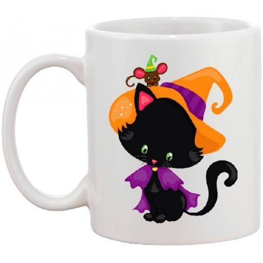 Halloween Black Cat Design Mug