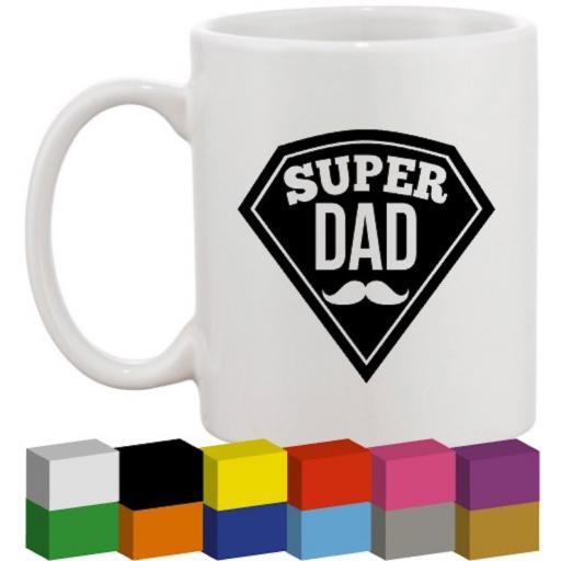 Super Dad Glass / Mug / Cup Decal / Sticker / Graphic