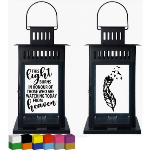 This light burns in honour Lantern Decal / Sticker / Graphic