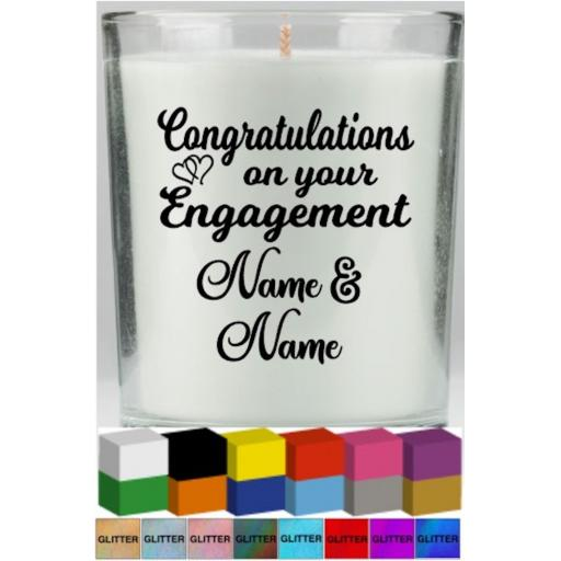 Congratulations on your Engagement Candle Decal / Sticker / Graphic