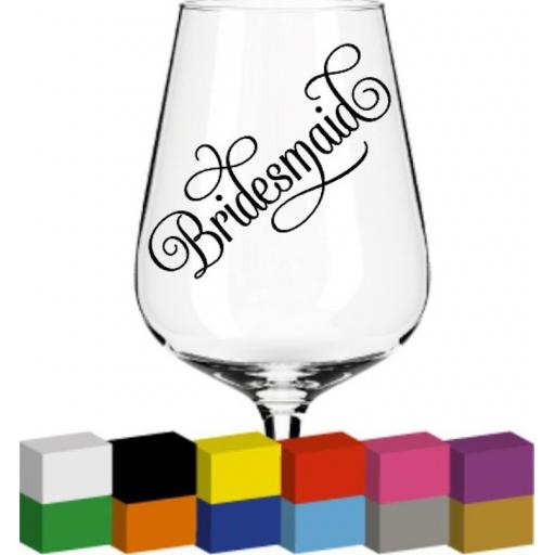 Bridesmaid Glass / Mug / Cup Decal / Sticker / Graphic