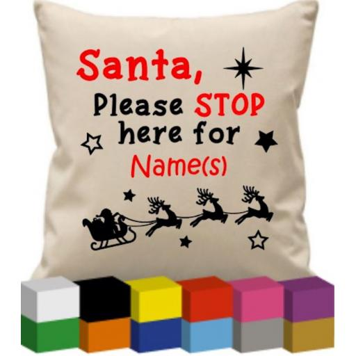 Cushion Cover with Santa please stop here for