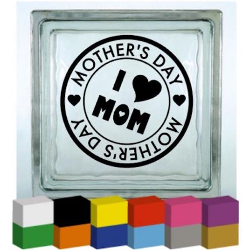 Mother's Day Stamp Vinyl Glass Block / Photo Frame Decal / Sticker / Graphic