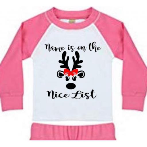 Is on the Nice List Personalised Heat Transfer Vinyl