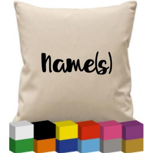 Cushion Cover with Name or Wording