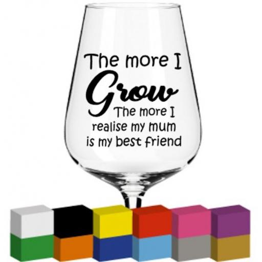 The more I grow Glass / Mug / Cup Decal / Sticker / Graphic