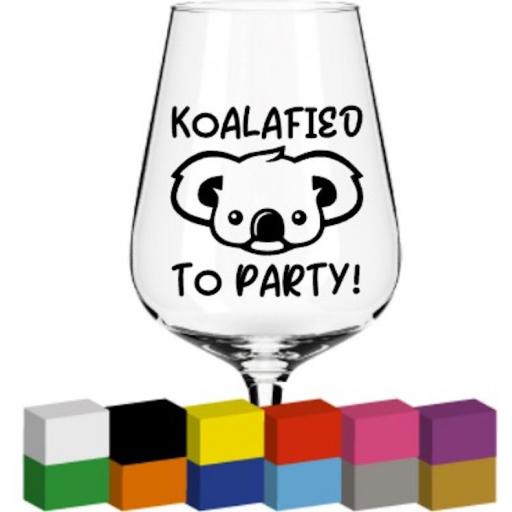 Koalafied to Party Glass / Mug / Cup Decal / Sticker / Graphic
