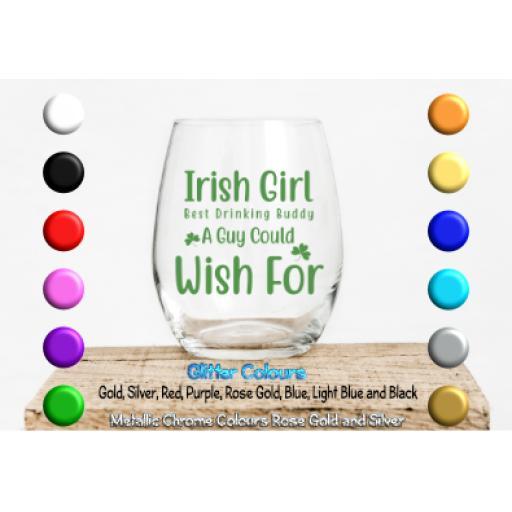 Irish girl best drinking buddy Glass / Mug Decal / Sticker / Graphic