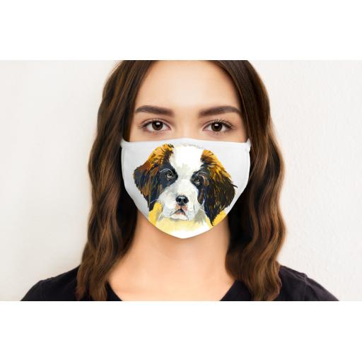 St Bernard Dog Face Mask