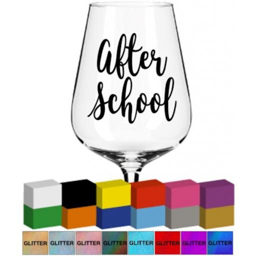 After School Glass / Mug Decal / Sticker / Graphic