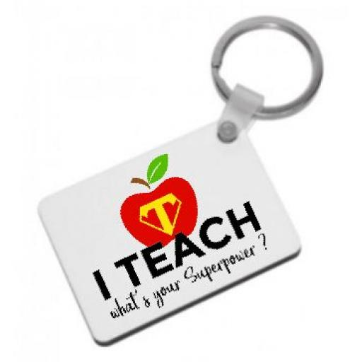 I teach what's your superpower? Keyring