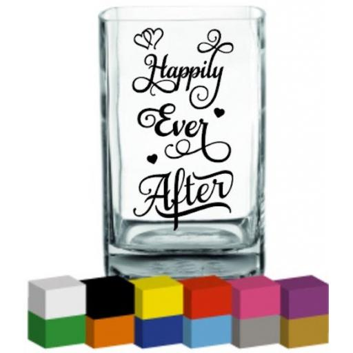 Happily Ever After Vase Decal / Sticker / Graphic