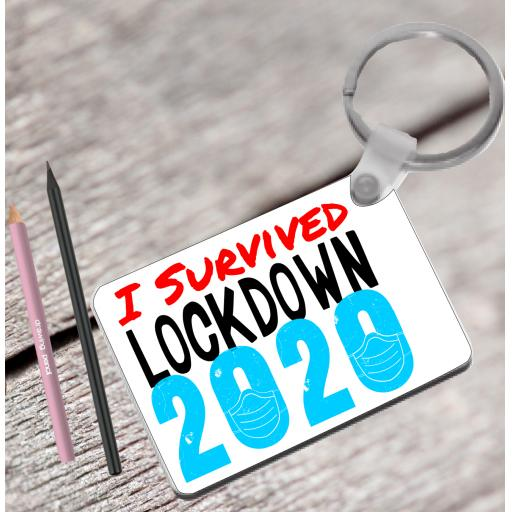 I survived lockdown 2020 Keyring