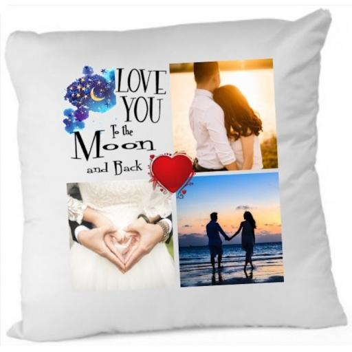 Love you to the Moon and Back Photo Cushion Cover