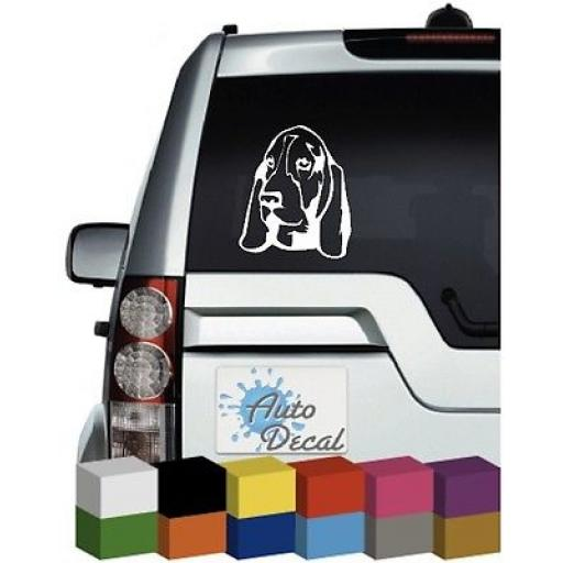 Basset Hound Dog Vinyl Car Animal Window, Bumper Decal / Sticker / Graphic
