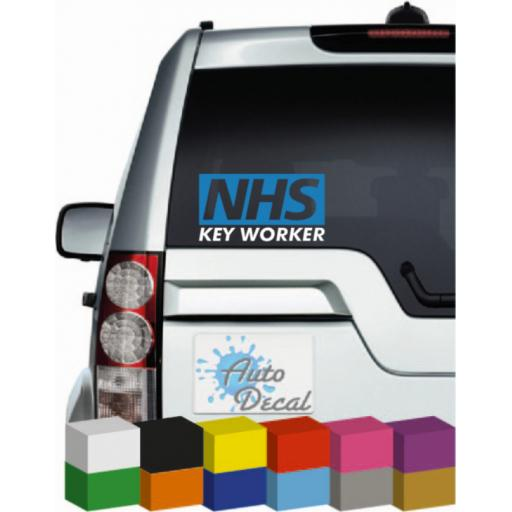NHS Keyworker Vinyl Window Sticker, Car, Bumper, Decal / Graphic