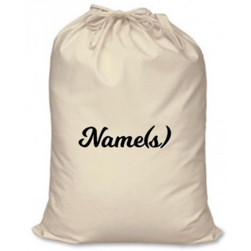 Name for Santa Sack in Heat Transfer Vinyl