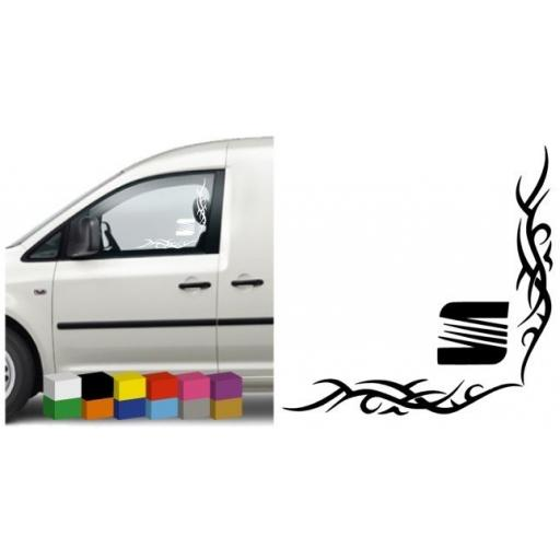 Seat Van/Car Side Window Stickers x 2 Decal / Graphic, Van, Lorry, Bus, Coach