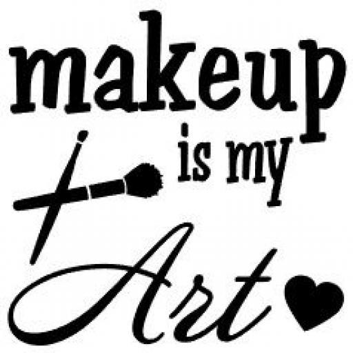Makeup is my Art Jar / Mug / Cup Decal / Sticker / Graphic