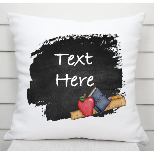 Personalised Ruler Apple Cushion Cover