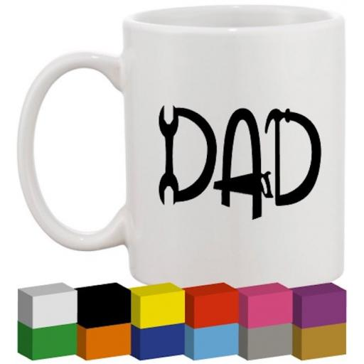 Dad Tools Glass / Mug / Cup Decal / Sticker / Graphic