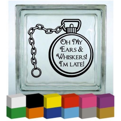 Oh My Ears & Whiskers Vinyl Glass Block / Photo Frame Decal / Sticker / Graphic