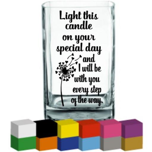 Light this candle on your special day Lantern / Vase Decal / Sticker / Graphic
