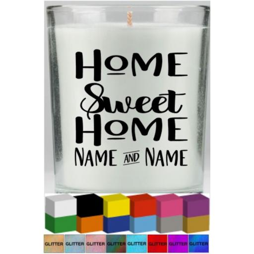 Home Sweet Home V2 Personalised Candle Decal / Sticker / Graphic