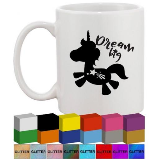 Dream Big Glass / Mug Decal / Sticker / Graphic