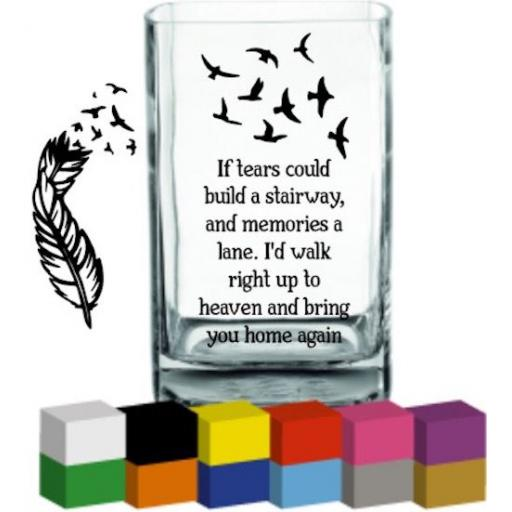If tears could build Vase Decal / Sticker / Graphic
