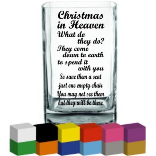 Christmas in Heaven Vase Decal / Sticker / Graphic