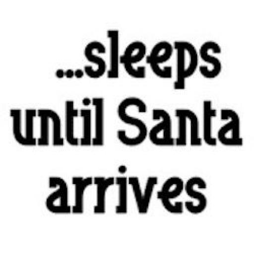 Sleeps until Santa arrives Decal / Sticker/ Graphic