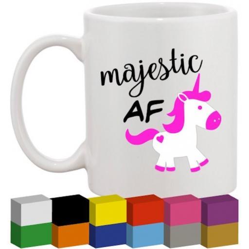 Majestic AF Glass / Mug / Cup Decal / Sticker / Graphic