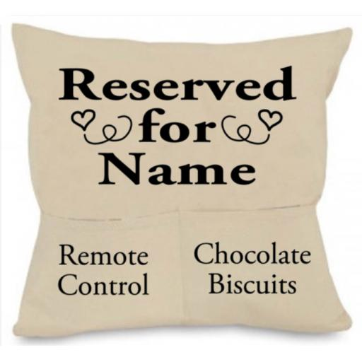 Reserved for Cushion Cover with Pockets Personalised