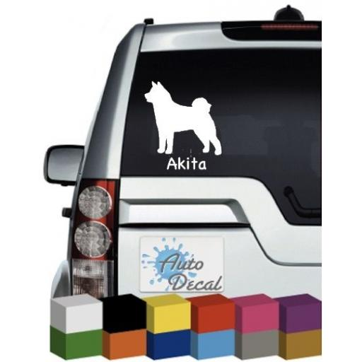 Akita Dog Vinyl Car Animal Decal / Sticker / Graphic
