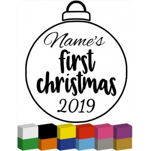 Personalised First Christmas Bauble Decal / Sticker/ Graphic
