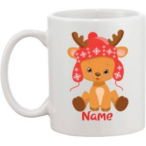Baby Reindeer Personalised Mug (different designs)