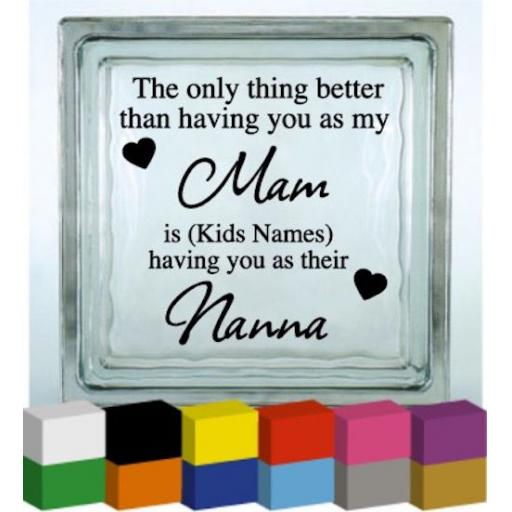 The Only thing Better Vinyl Glass Block / Photo Frame Decal / Sticker/ Graphic