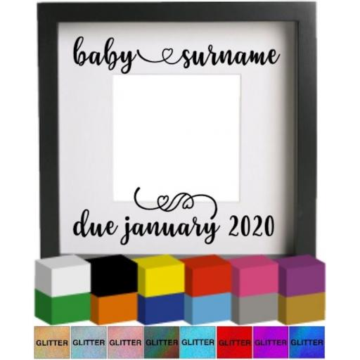 Baby scan Personalised Vinyl Glass Block / Photo Frame Decal / Sticker / Graphic