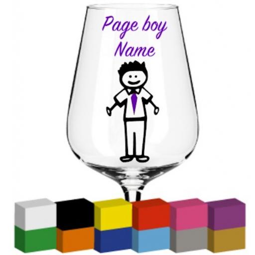 Page Boy Personalised Glass / Mug / Cup Decal / Sticker / Graphic