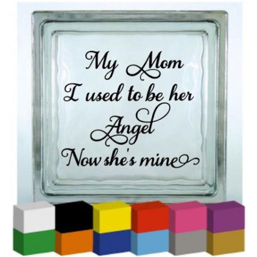 My Mom Vinyl Glass Block / Photo Frame Decal / Sticker/ Graphic