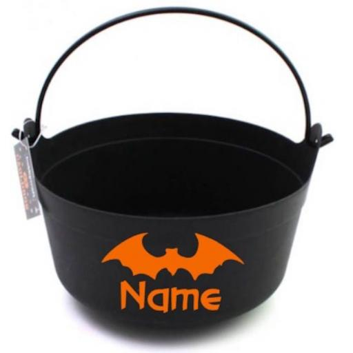 Bat Name Personalised Vinyl for Bucket Decal / Sticker / Graphic