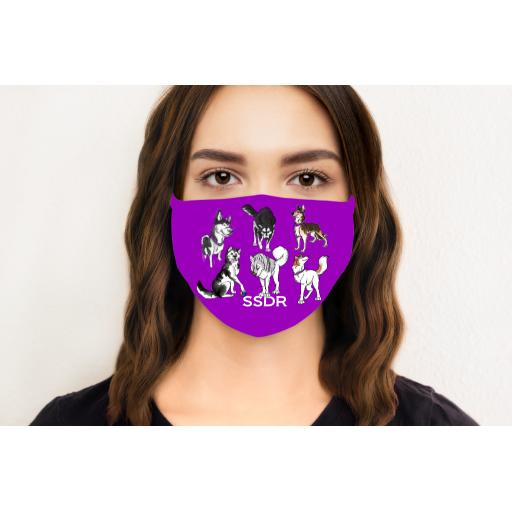 Saint Sled Dog Rescue Face Mask