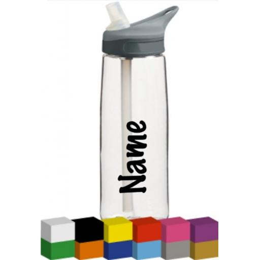 Name Personalised Vinyl Bottle / Lunch Box / Toys Decal / Sticker / Graphic