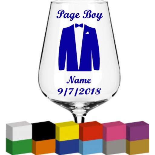 Page Boy Personalised V2 Glass / Mug / Cup Decal / Sticker / Graphic