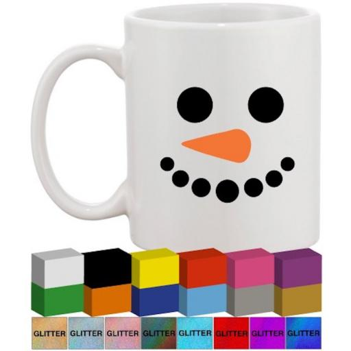 Snowman faces Glass / Mug Decal / Sticker / Graphic
