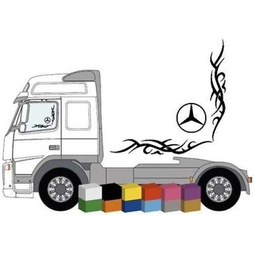 Mercedes Truck Side Window Stickers x 2 Decal / Graphic, Van, Lorry, Bus, Coach