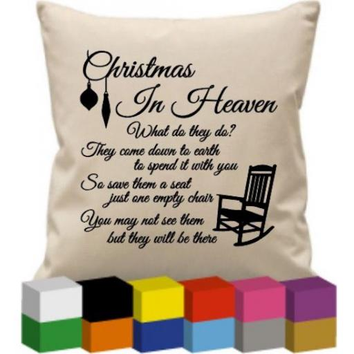 Cushion Cover with Christmas in Heaven