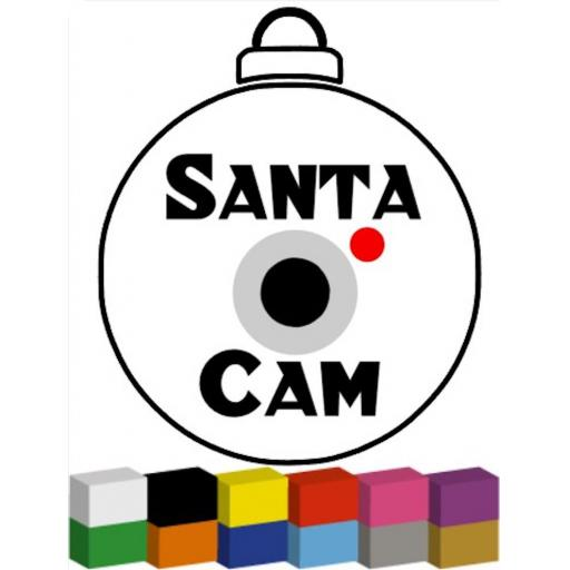 Santa Cam for Bauble Decal / Sticker/ Graphic