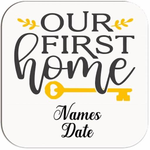 Our First Home Personalised Coaster